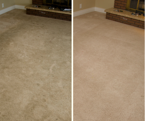 before and after carpet cleaning images in San Francisco CA